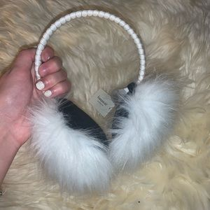 Plush white earmuffs
